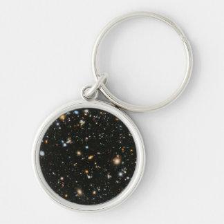 Campo ultra profundo de Hubble Llavero Redondo Plateado