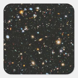 Campo ultra profundo de Hubble Pegatina Cuadrada