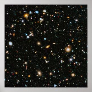 Campo ultra profundo de Hubble Póster