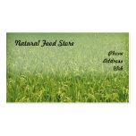Campo verde enorme hermoso del arroz tarjeta de visita
