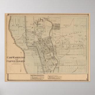 Campo Washington, alturas de Clifton, Ohio Póster