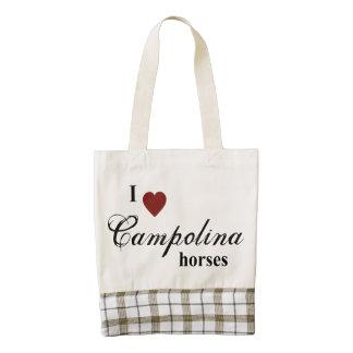 Campolina horses zazzle HEART tote bag