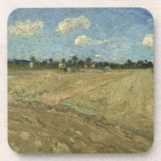 Campos arados (los surcos) por Van Gogh Posavasos De Bebidas