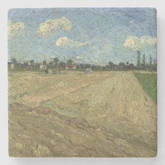 Campos arados (los surcos) por Van Gogh Posavasos De Piedra