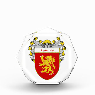 Campos Coat of Arms Family Crest Acrylic Award