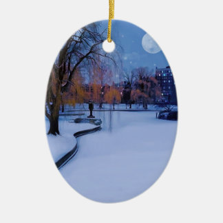 Campos comunes de Boston congelados tarde del invi Adorno De Reyes