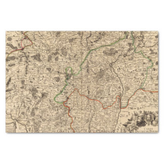 Campos de batalla y caminos franceses papel de seda pequeño