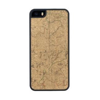 Campos de batalla y caminos romanos funda de madera para iPhone 5