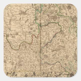 Campos de batalla y caminos romanos pegatina cuadradas personalizada