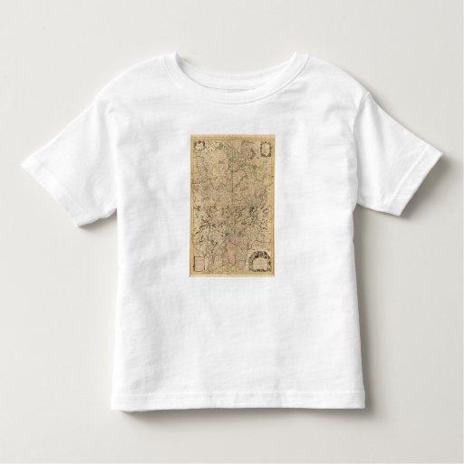 Campos de batalla y caminos romanos playera de bebé