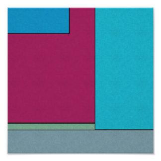 Campos de color geométricos modernos del arte abst arte con fotos