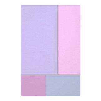 Campos de color geométricos modernos del arte abst papelería
