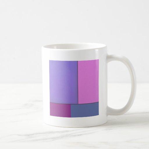 Campos de color geométricos modernos del arte abst taza