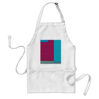 Campos de color geométricos modernos del arte delantal