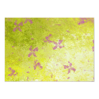 """Campos de flor rosados invitación 5"""" x 7"""""""