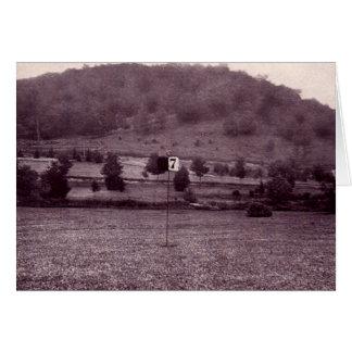 Campos de golf de Linville Carolina del Norte Tarjeta De Felicitación
