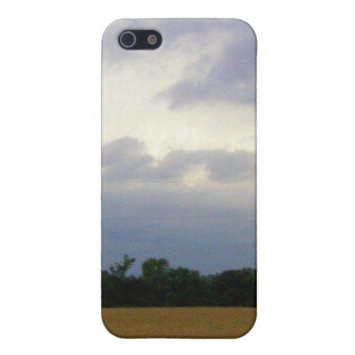 Campos de granja inminentes tempestuosos del mún t iPhone 5 carcasas