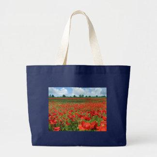 Campos de la amapola bolsas de mano