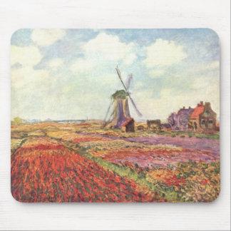 Campos de la cosecha - Monet Tapetes De Ratón