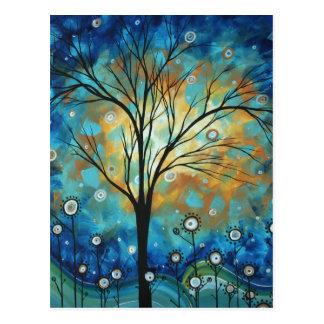 Campos de la postal azul