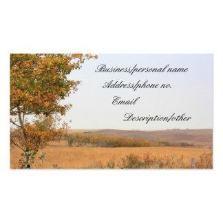 Campos de la pradera en otoño plantillas de tarjetas de visita