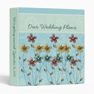 Campos de las flores que casan la carpeta de los