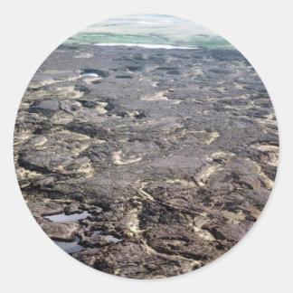 Campos de lava pegatina redonda