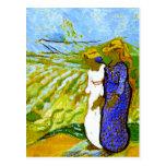 Campos de travesía de las mujeres de Van Gogh dos Postales