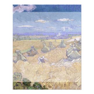 Campos de trigo con el segador de Vincent van Gogh Tarjetón