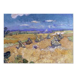 """Campos de trigo con el segador de Vincent van Gogh Invitación 5"""" X 7"""""""