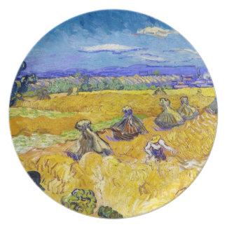 Campos de trigo con el segador Van Gogh Vincent Plato De Cena