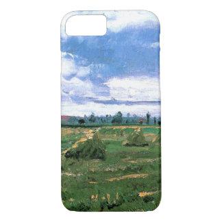 Campos de trigo de Van Gogh con los Haystacks, Funda iPhone 7