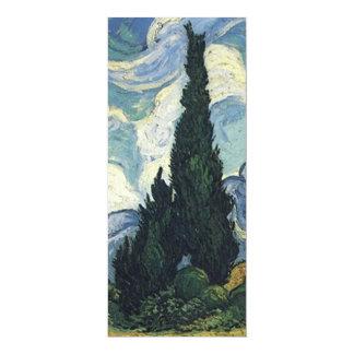 """Campos de trigo de Vincent van Gogh con los Invitación 4"""" X 9.25"""""""