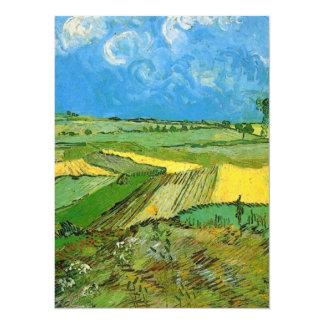 Campos de trigo en Auvers debajo del cielo Invitación 13,9 X 19,0 Cm