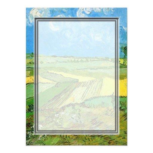 """Campos de trigo en Auvers debajo del cielo Invitación 5.5"""" X 7.5"""""""