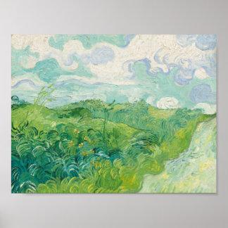 Campos de trigo verdes, Auvers 1890 (Vincent van Póster