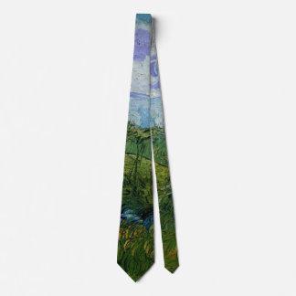 Campos de trigo verdes de Van Gogh, bella arte del Corbata Personalizada