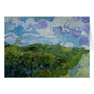 Campos de trigo verdes de Van Gogh, bella arte del Tarjeta De Felicitación