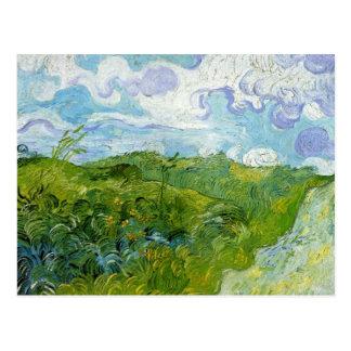 Campos de trigo verdes de Van Gogh Tarjeta Postal