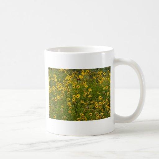 Campos del amarillo taza clásica