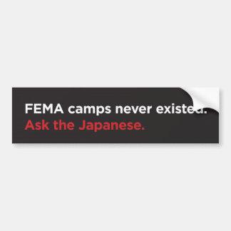 Campos del FEMA - los japoneses Etiqueta De Parachoque