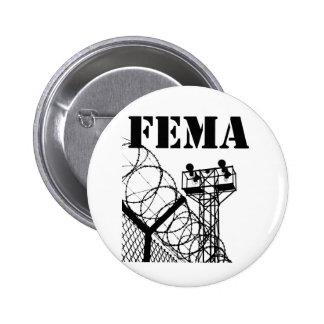 Campos del FEMA Pin Redondo De 2 Pulgadas