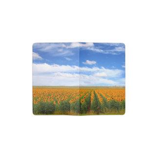Campos del girasol - cubierta del cuaderno de libreta de bolsillo moleskine