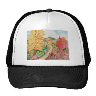 Campos del girasol gorras