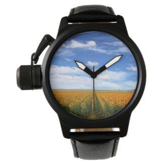 Campos del girasol reloj de mano