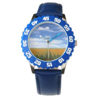 Campos del girasol relojes de pulsera