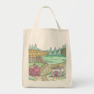 Campos del jardín de la granja del verano bolsas