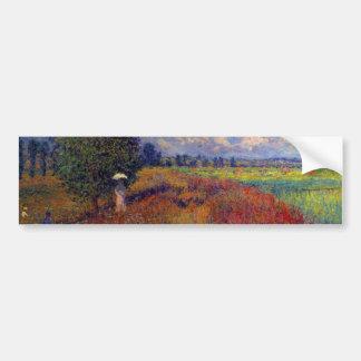 Campos impresionistas de la amapola del arte del pegatina para auto