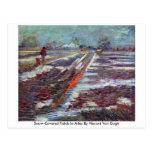 Campos nevados en Arles de Vincent van Gogh Tarjeta Postal