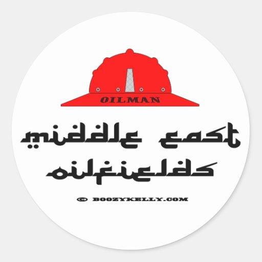 Campos petrolíferos de Oriente Medio, pegatina del